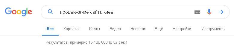 конкуренция по SEO в Киеве