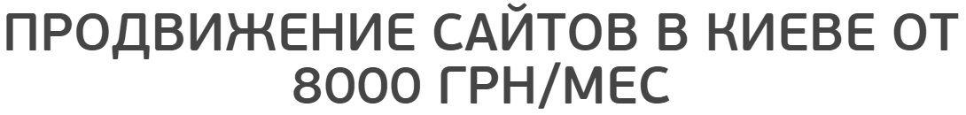 SEO продвижение сайта в Киеве от 8000 грн/мес